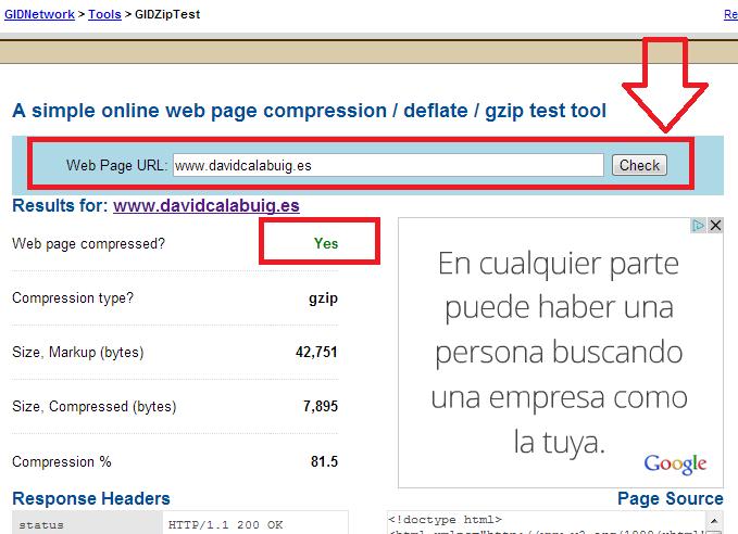 Como habilitar Gzip en mi web