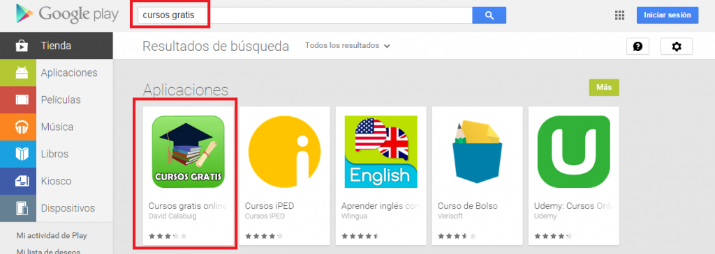captura google play 14 febrero