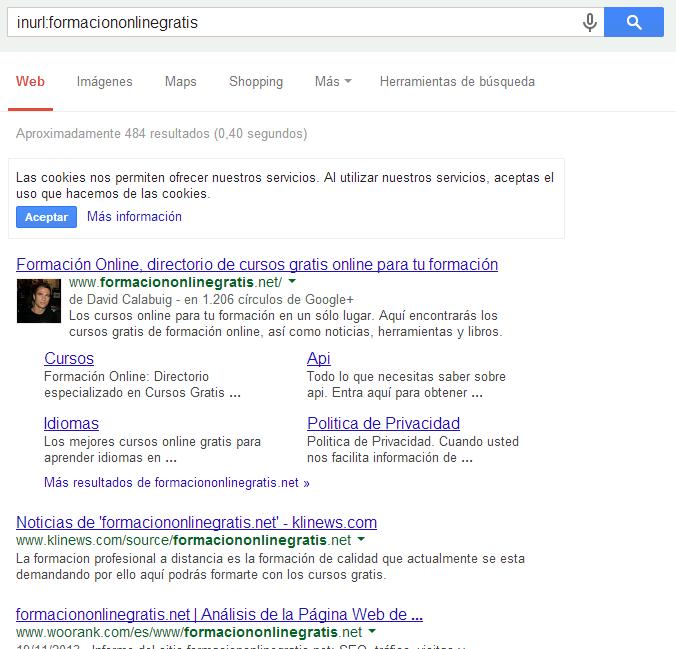 comando inurl de google