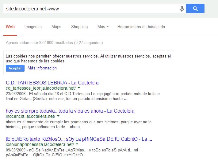 comando site www de google