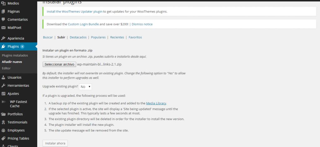 instalar plugin migracion