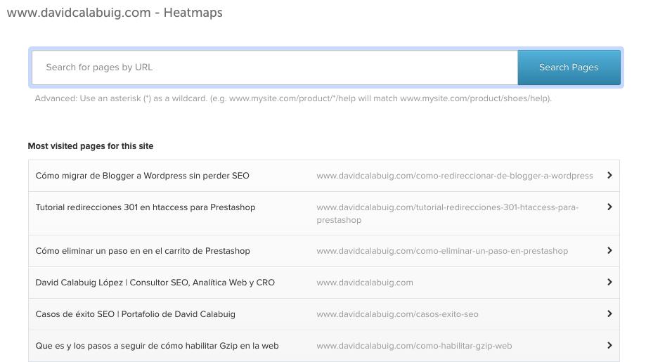 heatmaps inspectlet